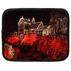Clifton Mill Christmas Lights Netbook Case (XXL)