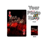 Clifton Mill Christmas Lights Playing Cards 54 (Mini)  Front - Heart9