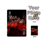 Clifton Mill Christmas Lights Playing Cards 54 (Mini)  Front - Spade5