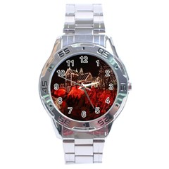 Clifton Mill Christmas Lights Stainless Steel Analogue Watch