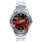 Clifton Mill Christmas Lights Stainless Steel Analogue Watch Front