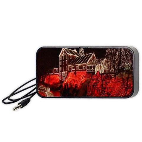 Clifton Mill Christmas Lights Portable Speaker (Black)