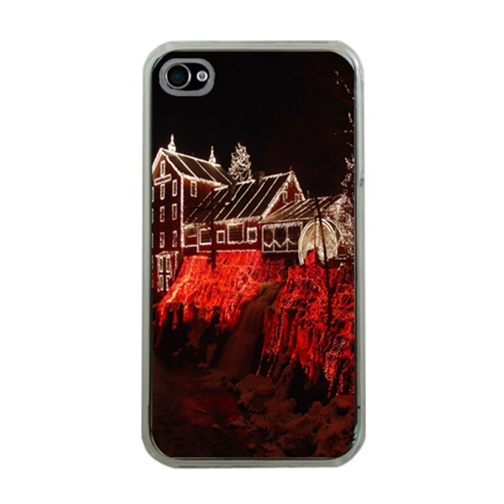 Clifton Mill Christmas Lights Apple iPhone 4 Case (Clear)