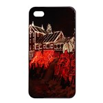 Clifton Mill Christmas Lights Apple iPhone 4/4s Seamless Case (Black) Front