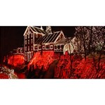 Clifton Mill Christmas Lights Twin Heart Bottom 3D Greeting Card (8x4) Back