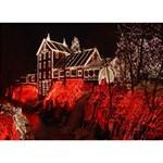 Clifton Mill Christmas Lights WORK HARD 3D Greeting Card (7x5) Back