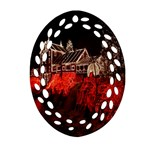 Clifton Mill Christmas Lights Ornament (Oval Filigree)  Front