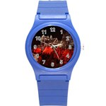 Clifton Mill Christmas Lights Round Plastic Sport Watch (S) Front