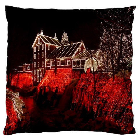 Clifton Mill Christmas Lights Large Cushion Case (One Side)