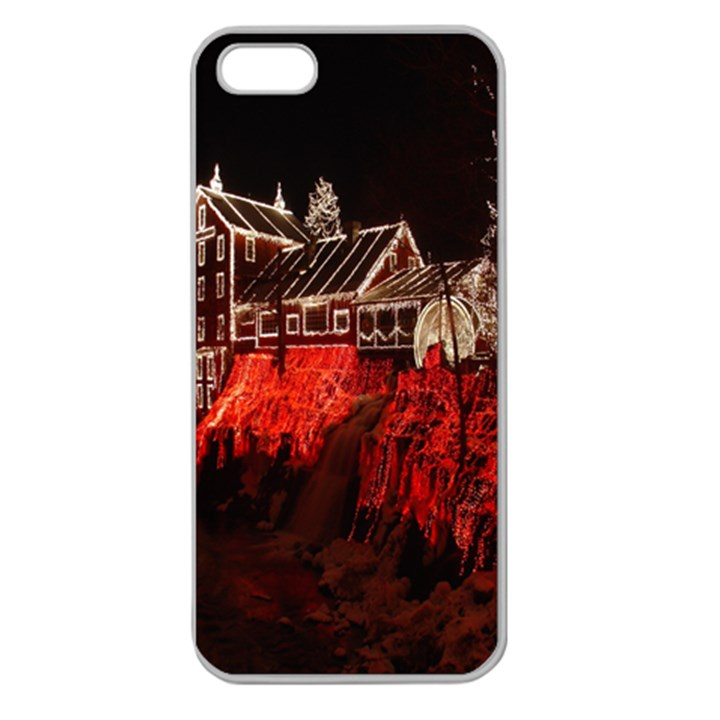 Clifton Mill Christmas Lights Apple Seamless iPhone 5 Case (Clear)