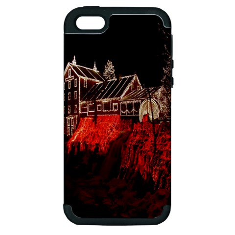 Clifton Mill Christmas Lights Apple iPhone 5 Hardshell Case (PC+Silicone)