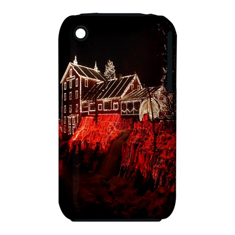 Clifton Mill Christmas Lights Apple iPhone 3G/3GS Hardshell Case (PC+Silicone)