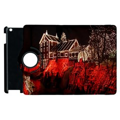 Clifton Mill Christmas Lights Apple iPad 3/4 Flip 360 Case