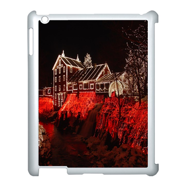 Clifton Mill Christmas Lights Apple iPad 3/4 Case (White)