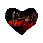 Clifton Mill Christmas Lights Standard 16  Premium Heart Shape Cushions Front