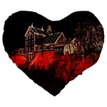 Clifton Mill Christmas Lights Large 19  Premium Heart Shape Cushions Front
