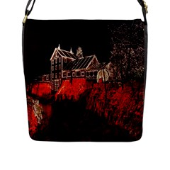 Clifton Mill Christmas Lights Flap Messenger Bag (L)