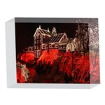 Clifton Mill Christmas Lights 5 x 7  Acrylic Photo Blocks Front