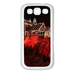 Clifton Mill Christmas Lights Samsung Galaxy S3 Back Case (White)