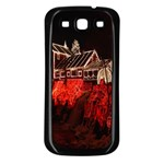 Clifton Mill Christmas Lights Samsung Galaxy S3 Back Case (Black) Front