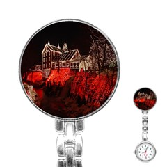 Clifton Mill Christmas Lights Stainless Steel Nurses Watch