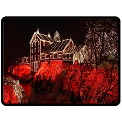 Clifton Mill Christmas Lights Double Sided Fleece Blanket (Large)
