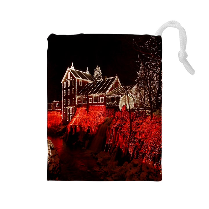Clifton Mill Christmas Lights Drawstring Pouches (Large)
