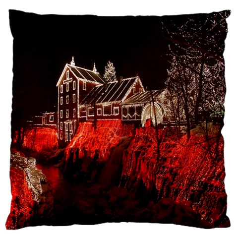 Clifton Mill Christmas Lights Standard Flano Cushion Case (One Side)