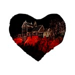 Clifton Mill Christmas Lights Standard 16  Premium Flano Heart Shape Cushions Front