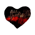 Clifton Mill Christmas Lights Standard 16  Premium Flano Heart Shape Cushions Back