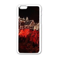 Clifton Mill Christmas Lights Apple iPhone 6/6S White Enamel Case