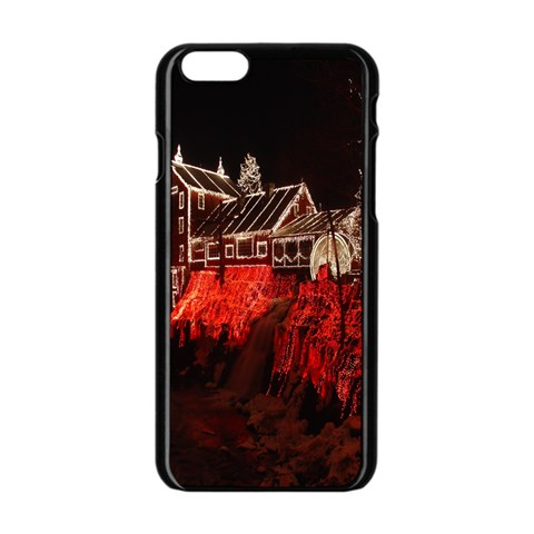 Clifton Mill Christmas Lights Apple iPhone 6/6S Black Enamel Case