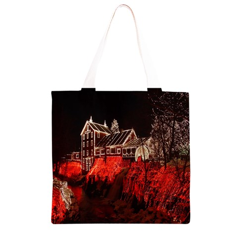 Clifton Mill Christmas Lights Grocery Light Tote Bag