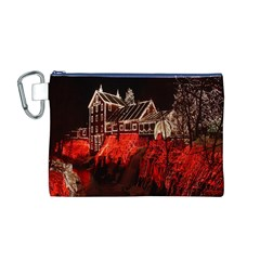Clifton Mill Christmas Lights Canvas Cosmetic Bag (M)