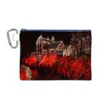 Clifton Mill Christmas Lights Canvas Cosmetic Bag (M) Front