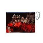Clifton Mill Christmas Lights Canvas Cosmetic Bag (M) Back