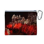 Clifton Mill Christmas Lights Canvas Cosmetic Bag (L) Back