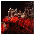 Clifton Mill Christmas Lights Large Satin Scarf (Square) Front