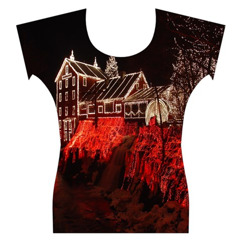 Clifton Mill Christmas Lights Women s Cap Sleeve Top