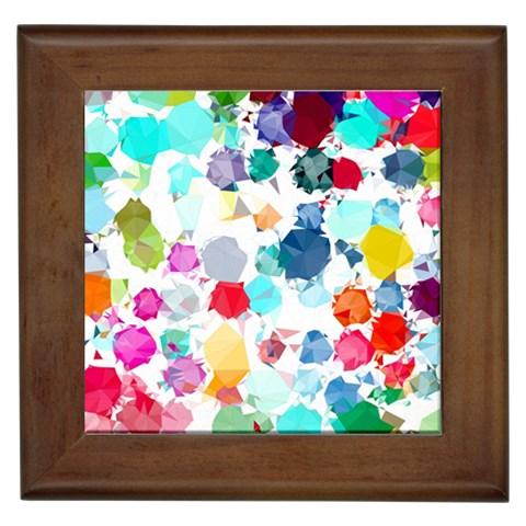 Colorful Diamonds Dream Framed Tiles