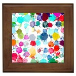 Colorful Diamonds Dream Framed Tiles Front