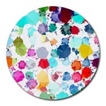 Colorful Diamonds Dream Round Mousepads Front