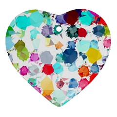 Colorful Diamonds Dream Ornament (heart)