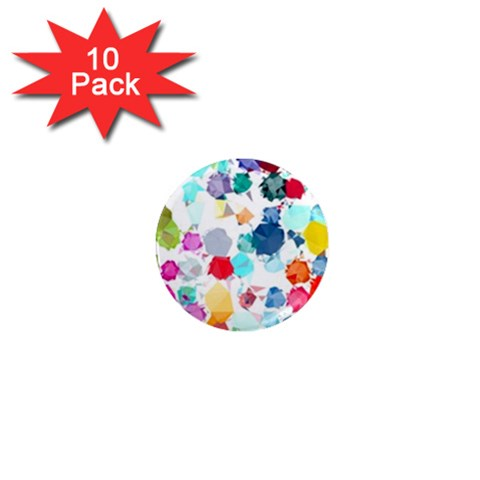 Colorful Diamonds Dream 1  Mini Magnet (10 pack)