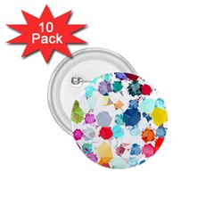 Colorful Diamonds Dream 1 75  Buttons (10 Pack)