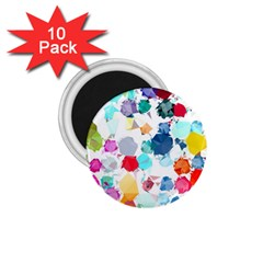 Colorful Diamonds Dream 1 75  Magnets (10 Pack)