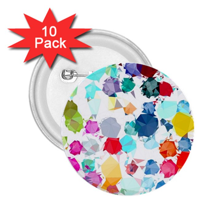 Colorful Diamonds Dream 2.25  Buttons (10 pack)