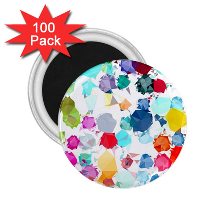 Colorful Diamonds Dream 2.25  Magnets (100 pack)