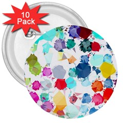 Colorful Diamonds Dream 3  Buttons (10 pack)