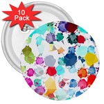 Colorful Diamonds Dream 3  Buttons (10 pack)  Front